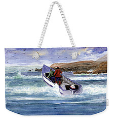 Dory Boat Heading To Sea Weekender Tote Bag