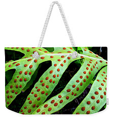 Weekender Tote Bag featuring the photograph Dots by Kristine Merc