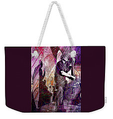 Double Bass Silhouette  Weekender Tote Bag