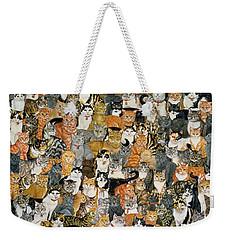 Double Cat Spread Weekender Tote Bag