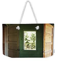 Double Entry Weekender Tote Bag