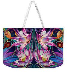 Double Floral Fantasy 2 Weekender Tote Bag