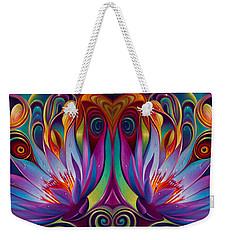 Double Floral Fantasy Weekender Tote Bag