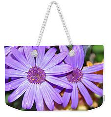 Double Purple Weekender Tote Bag