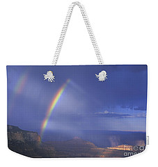 Double Rainbow At Cape Royal Grand Canyon National Park Weekender Tote Bag