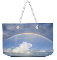 Double Rainbow At Sea Weekender Tote Bag