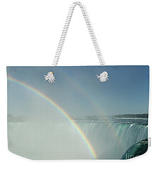 Weekender Tote Bag featuring the photograph Double Rainbow by Brenda Brown