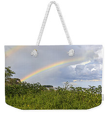 Double Rainbow Sheffield Island Weekender Tote Bag by Marianne Campolongo
