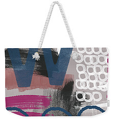 Double Ve- Abstract Painting Weekender Tote Bag