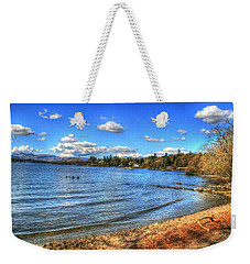 Weekender Tote Bag featuring the photograph Down By The Riverside by Doc Braham