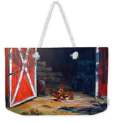 Down On The Farm Weekender Tote Bag by Lee Piper