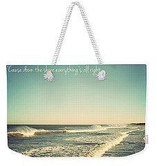 Down The Shore Seaside Heights Vintage Quote Weekender Tote Bag