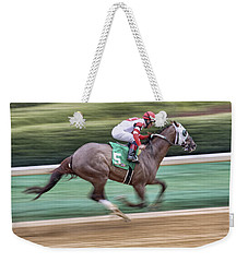 Down The Stretch - Horse Racing - Jockey Weekender Tote Bag