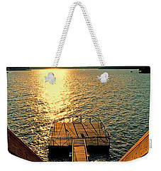 Down To The Fishing Dock - Lake Of The Ozarks Mo Weekender Tote Bag by Debbie Portwood