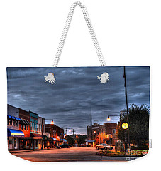 Down Town Granite Falls At Six Thirty In The Morning Weekender Tote Bag