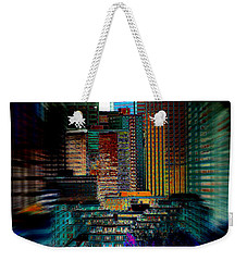 Downtown Chaos Weekender Tote Bag by Stuart Turnbull