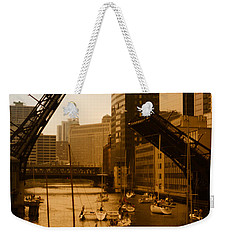 Downtown Chicago Weekender Tote Bag by Miguel Winterpacht