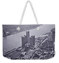 Downtown Detroit Weekender Tote Bag by Nicholas  Grunas