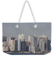 Downtown Manhattan Shot From The Staten Island Ferry Weekender Tote Bag by John Telfer
