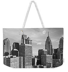 Downtown Philadelphia Weekender Tote Bag by Rona Black