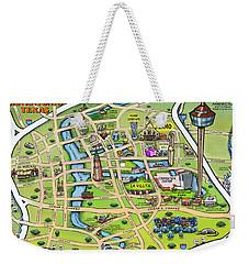 Downtown San Antonio Texas Cartoon Map Weekender Tote Bag