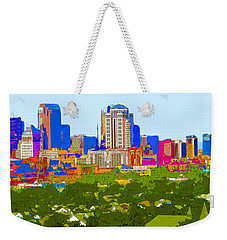 Downtown St. Louis From The Southwest Abstract Weekender Tote Bag