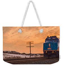 Downtown Train Weekender Tote Bag