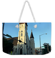Downtown Worship Weekender Tote Bag