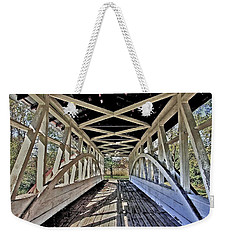 Weekender Tote Bag featuring the photograph Dr. Knisely Covered Bridge by Suzanne Stout