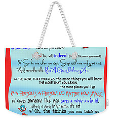 Dr Seuss - Quotes To Change Your Life Weekender Tote Bag