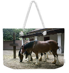 Weekender Tote Bag featuring the photograph Draft Horses by Lynn Palmer
