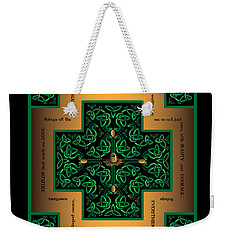 Dragon Egg Celtic Cross Weekender Tote Bag