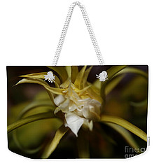 Weekender Tote Bag featuring the photograph Dragon Flower by David Millenheft