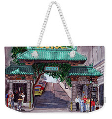 Dragon Gate Weekender Tote Bag by Mike Robles