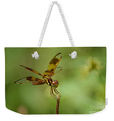 Weekender Tote Bag featuring the photograph Dragonfly 2 by Olga Hamilton