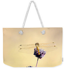 Weekender Tote Bag featuring the photograph Dragonfly by AJ  Schibig