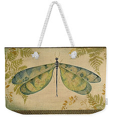 Dragonfly Among The Ferns-1 Weekender Tote Bag by Jean Plout
