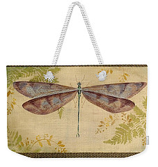 Dragonfly Among The Ferns-3 Weekender Tote Bag by Jean Plout