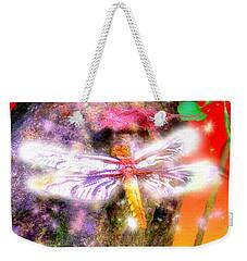Weekender Tote Bag featuring the digital art Dragonfly by Daniel Janda