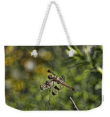 Weekender Tote Bag featuring the photograph Dragonfly by Daniel Sheldon