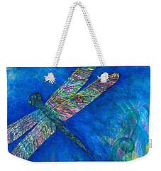 Dragonfly Flying High Weekender Tote Bag