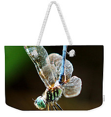 Dragonfly Headstand Weekender Tote Bag by Kim Pate