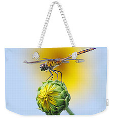 Dragonfly In Sunflowers Weekender Tote Bag