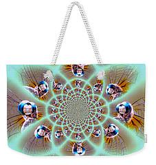 Dragonfly Kaleidoscope Weekender Tote Bag