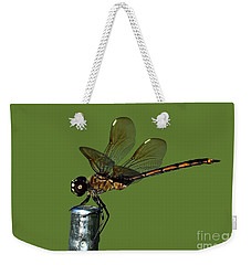 Weekender Tote Bag featuring the photograph Dragonfly by Meg Rousher