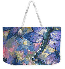 Weekender Tote Bag featuring the painting Dragons  by Megan Walsh
