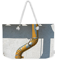 Drainpipe White Structured Wall  Weekender Tote Bag