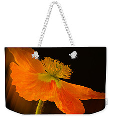 Dramatic Orange Poppy Weekender Tote Bag by Don Schwartz