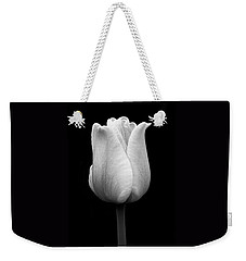 Dramatic Tulip Flower Black And White Weekender Tote Bag by Jennie Marie Schell