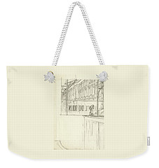 Drawing Of A Bar And Front Window Of Hotel Du Rhin Weekender Tote Bag